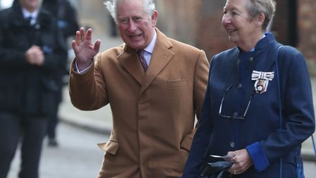 The Prince of Wales arrives at Ely Cathedral during his visit to East Anglia.