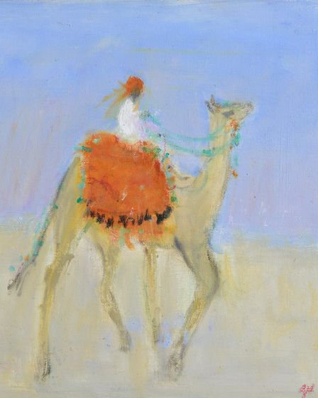 Trotting Camel by AnnShrager which is being shown at the Thompson Gallery in Aldeburgh
