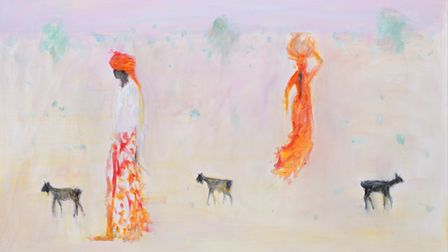 They Passed by at Sunset byAnn-Shrager which will form April's showcase exhibition at Aldeburgh's Thompson Gallery