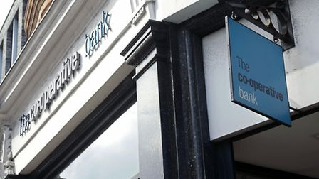 File photo dated 22/04/14 of a branch of The Co-operative bank, which has been censured by financial