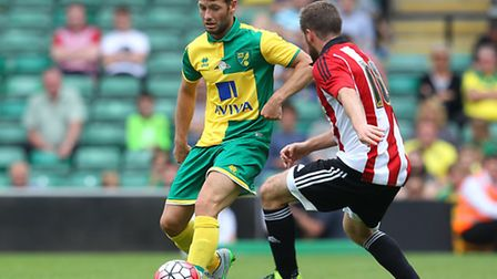 Wes Hoolahan has seen it and done it in the Premier League before with the Canaries. Picture by Paul
