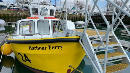 The Harwich Harbour Ferry has been restored after more than £12,000 was donated.