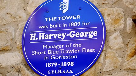 New blue plaque being unveiled on the old tower for Harvey Harvey-George manager of the Short Blue T
