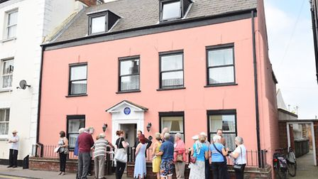 Unveiling of a blue plaque to remember Gorleston's Jubilee Cottage Hospital on the High Street.Pictu