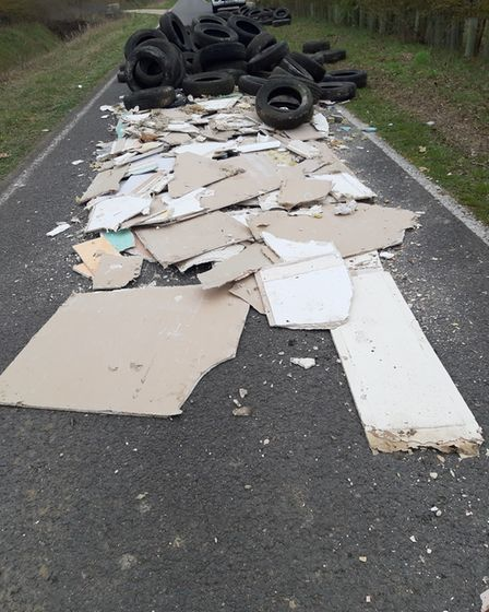 The waste was laid across the carriageway