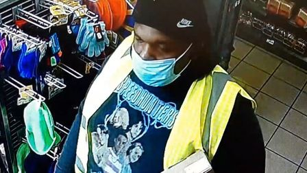CCTV image of one of four men police want to identify in connection with an aggravated burglary in Manea on Saturday