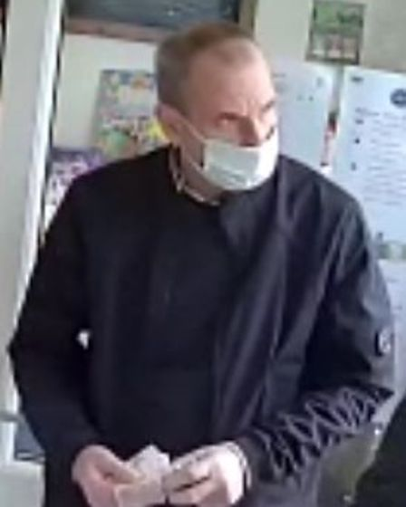 CCTV image of one of four men police want to identify in connection with an aggravated burglary