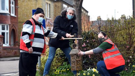 MP Steve Barclay met the Chatteris in Bloom team ahead of the 2021 RHS Britain in Bloom competition.