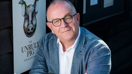 Brendan Padfield, owner of the Unruly Pig