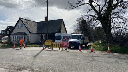 Church Road in Shropham was blocked as filming took place for themovieabout Princess Diana, 'Spencer'