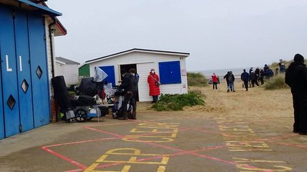 'Spencer', a new film about Princess Diana, being filmed on Hunstanton beach