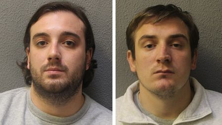 Alfie Atherton fromBow(left) and accomplice ReedRoberts from Clerkenwell