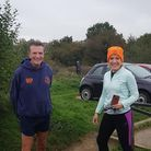 First and secondplace Martin Page and Belinda Riches in latest Barking Road Runners virtual event