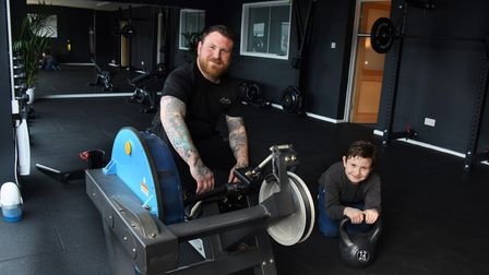 Joe James personal trainer in his new studio gym in Sudbury aiming to help people with mental health