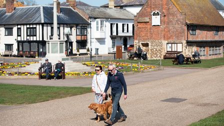 People flocked to Aldeburgh to enjoy the sunshine on the first day of lockdown restrictions easing.