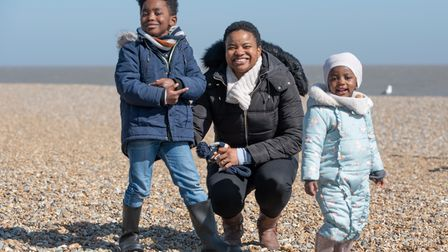 Otchali, Tchenda and Wandi enjoying a day in Aldeburgh on the first day of the easing of lockdown.