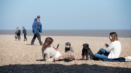 People headed to Aldeburgh to enjoy the first day of lockdown restrictions easing. Picture: Sarah L