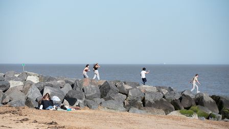 People enjoyed the sunshine in Felixstowe on the first day of the ease of lockdown restrictions. P