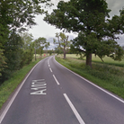 The A1071 between Hintlesham and Hadleigh closed due to a collision
