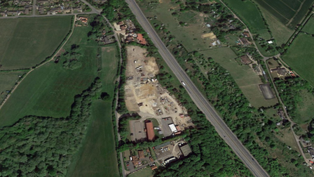 The homes are set to be built off the A14 in Creeting St Mary