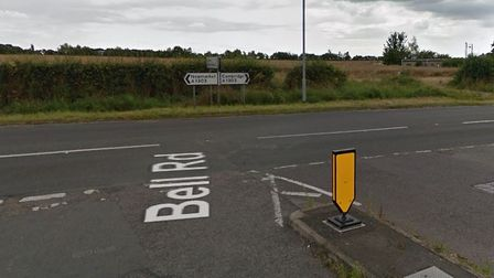 The collision happened on the A1303 near the junction with Bell Road.
