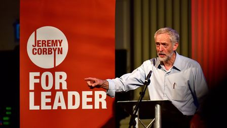 Labour leadership candidate Jeremy Corbyn at Open, Norwich.Picture: ANTONY KELLY
