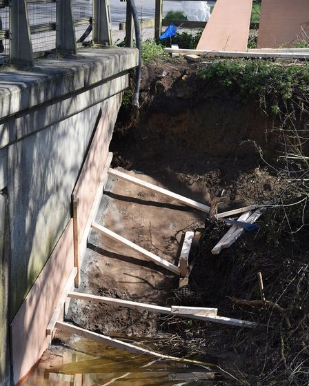 Repairs have started to the bridge on the A143, which the Redenhall Flood Group are asking for a new
