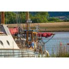 A boat in the Exe Estuary just off of Topsham