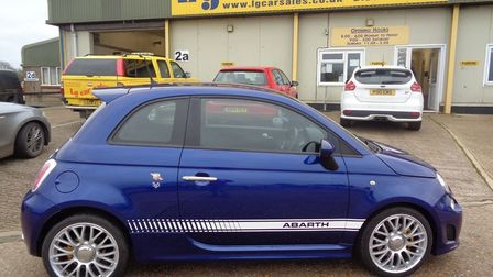 This Fiat 500 Abarth is available fromLG Car Sales in Littleport.