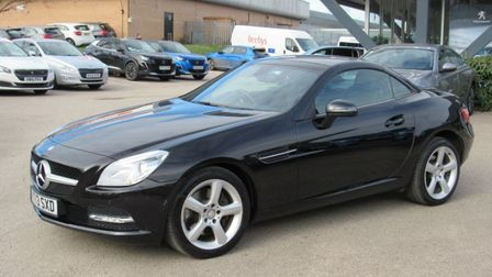 This Mercedes-Benz SLK is available atMarshall Peugeot Peterborough.