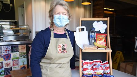 Volunteer Marina Burch at the Café on the Rec which opened on Monday