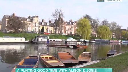 Alison Hammond and Josie Gibson went live from the River Cam in Cambridgeshire