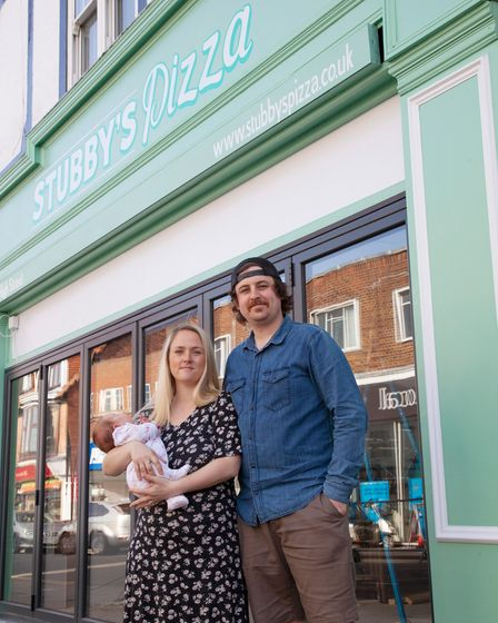 Ben Stubbs and his wife Charlotte are opening Stubby's Pizza in Sheringham High Street.
