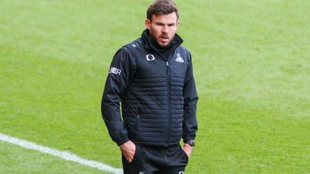 Doncaster Rovers interim manager Andy Butler during the Sky Bet League One match at Keepmoat Stadium