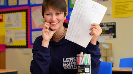 Long Stratton High student Dorrie Hartley who carried on with her exams despite serious heart proble