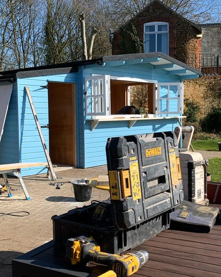 The Rose & Crown in Snettisham has revealed it will reopen with a new outdoor beach hut bar.