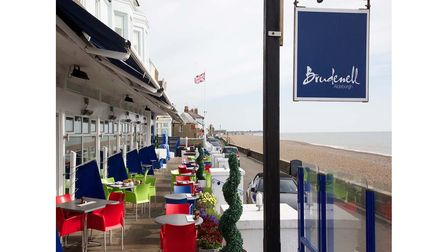 The terrace at The Brudenell Hotel in Aldeburgh