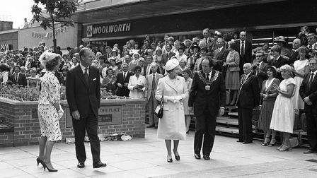 The Queen and Prince Philip after the presentation in Lowestoft