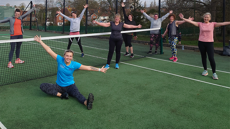 Members of LED Community Leisure return for outdoor exercise
