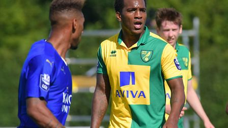Andre Wisdom featured for Norwich City's development squad at Colney on Monday. Picture by Simon Fin