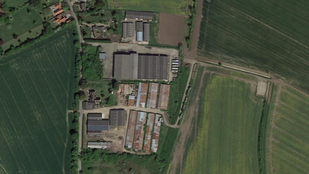 The site of the proposed homes in Kenton, near Debenham