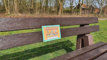 'Happy to Chat' benches have been installed in Suffolk as part of East Suffolk Council's 'Talking Bench' scheme.