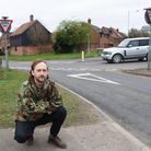 Gregory Piper at the dangerous junction at Hillside Road East in Bungay. Picture: DENISE BRADLEY