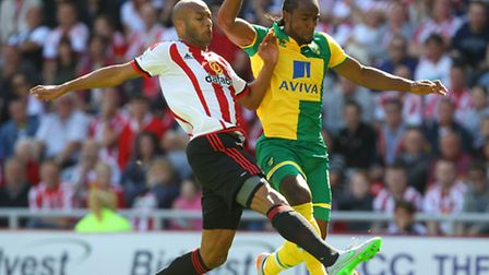 Cameron Jerome justified his recall to the Norwich City starting line up at Sunderland. Picture by P