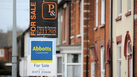 Various images of for sale signs, to accompany story on house prices.