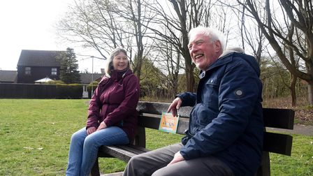 Jacky and John. A new friendship bench has been installed on the North Green in Martlesham Heath, to