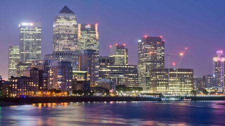 Canary Wharf... a major factor that attracts home buyers to east London and staying on
