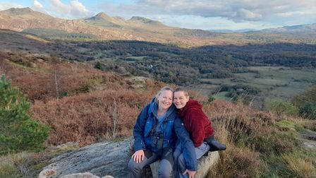 Naomi (right) and Georgina in the Yorkshire Dales in between Naomi's stays at St Helena Hospice