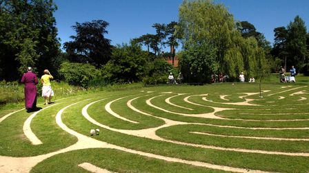 The labyrinth at Otley Hall