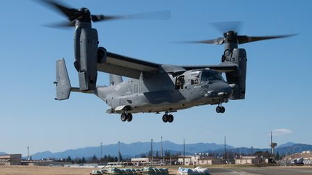 An example of the CV-22 Osprey in Japan